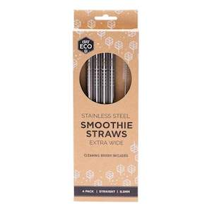 ever eco stainless steel smoothie straws 4pack