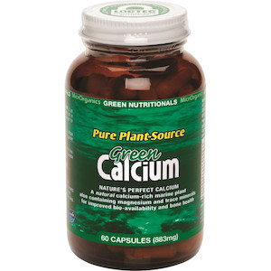green nutritionals green calcium 60caps