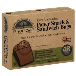 if you care paper snack sandwich bags 48pack