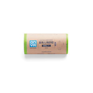 onya compostable bin liners small 8l 25pk