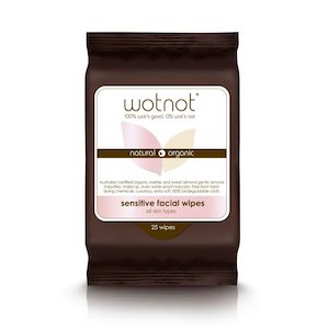 wotnot sensitive face wipes 25pack