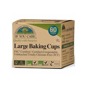 if you care baking cups large 60 unbleached chlorine free